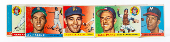 1955 Topps lot (12 cards)