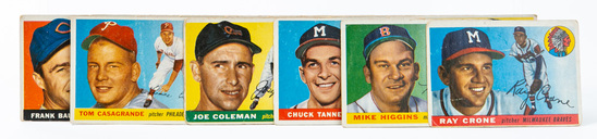 1955 Topps lot (13 cards)