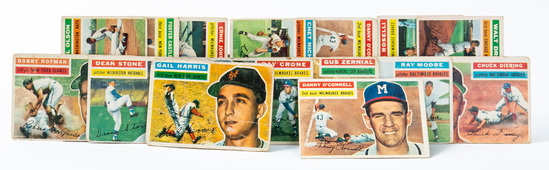 1956 Topps lot (17 cards)