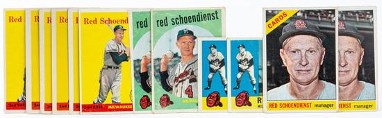 Red Schoendienst (HOF) group --Lot of 12 cards