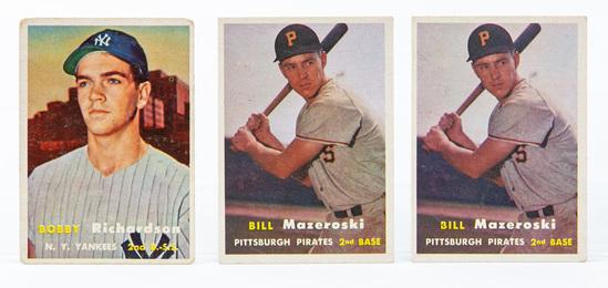 1957 Topps #286 Richardson, #24 Mazeroski (2) (HOF