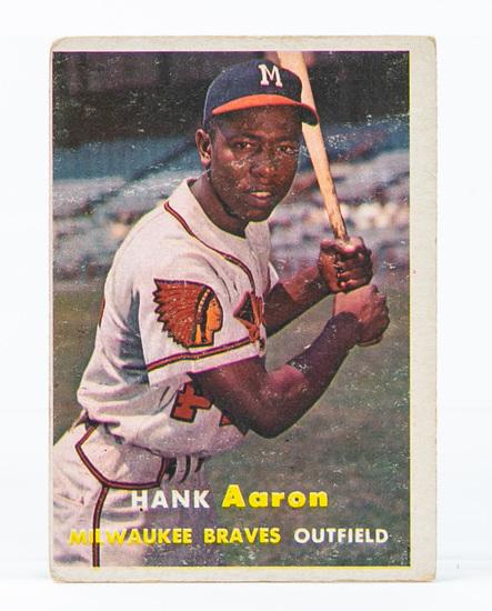 1957 Topps #20 Hank Aaron (HOF)