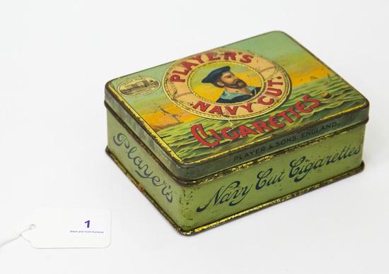 Players Navy Cut Cigarettes tin