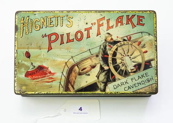 """Hignett's """"Pilot Flake tobacco tin"""