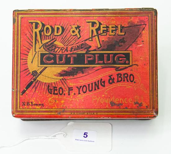 Rod & Reel cut plug tobacco tin