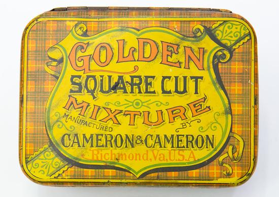 Golden Square Cut Mixture tobacco tin