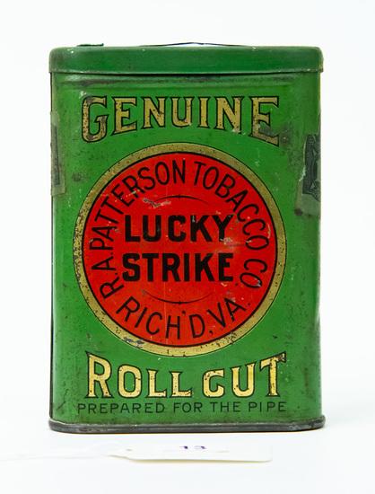 Lucky Strike Roll Cut pocket tobacco tin