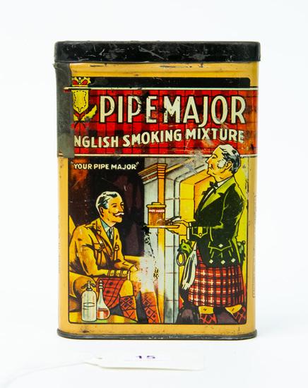 Pipe Major pocket tobacco tin