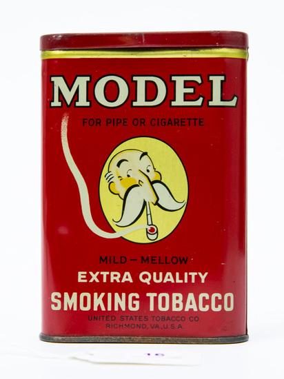 Model smoking tobacco pocket tin