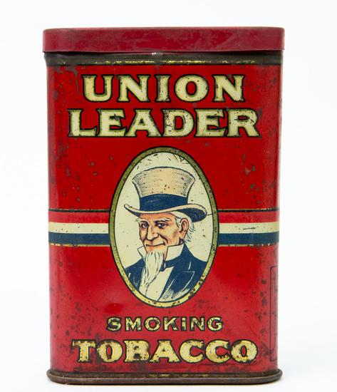 Union Leader pocket tobacco tin
