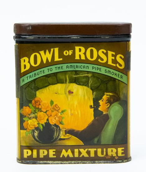 Bowl of Roses pocket tobacco tin