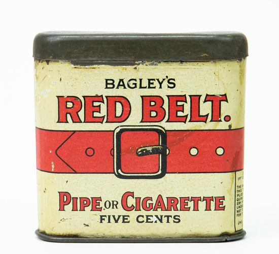 "Badley""s Red Belt pocket tobacco tin"