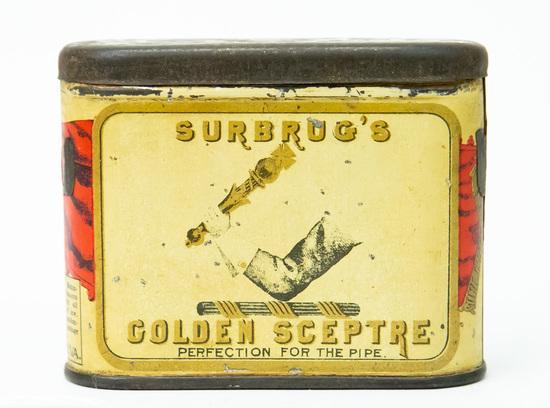 Golden Sceptre pocket tobacco tin