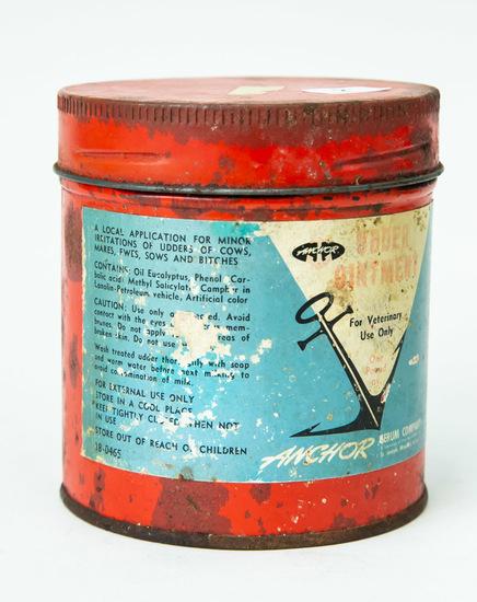 "Udder Ointment round 4"" tall tin"