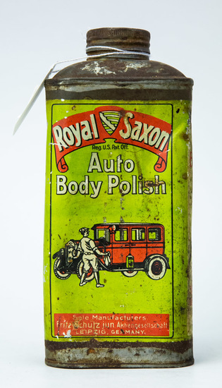 Royal Saxon Auto Body Polish tin