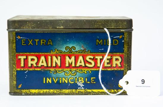 Train Master Cigars rectangular tin
