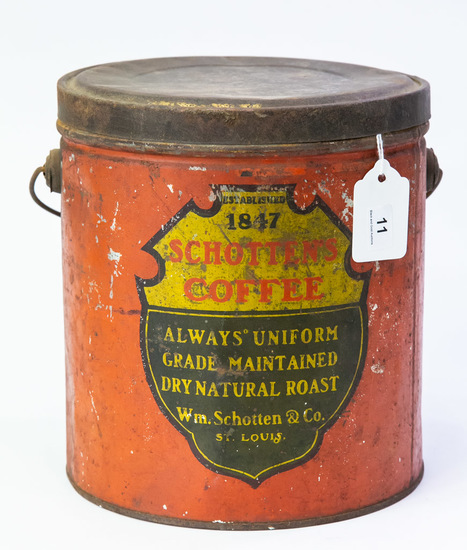 Schotten's Roasted Coffee large tin pail