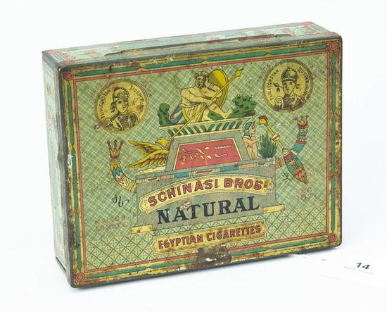 Schinasi Bros. Egyptian Cigarettes tin