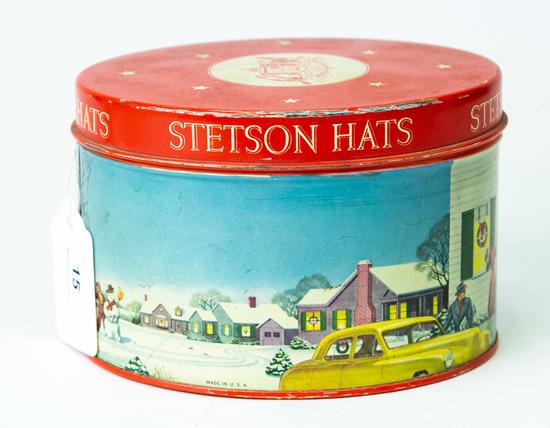 Stetson Hats miniature hat tin