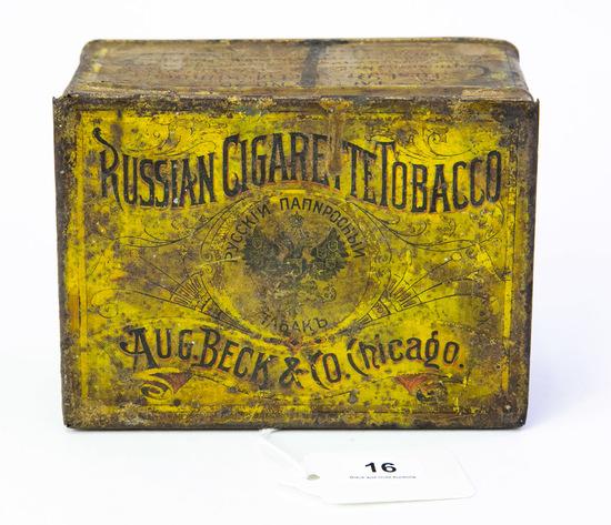 Russian Cigarette Tobacco tin