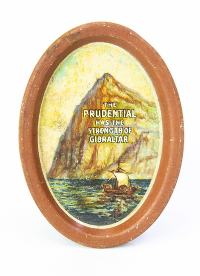 Oval Prudential advertising tip tray