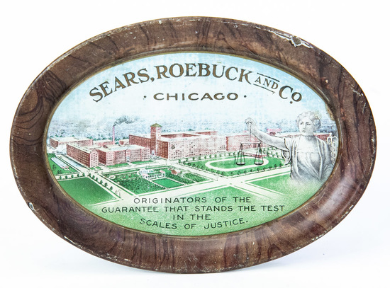 Sears, Roebuck and Co. oval tip tray