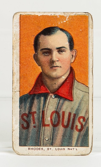 1909-11 T206 Charlie Rhodes, St. Louis, NL