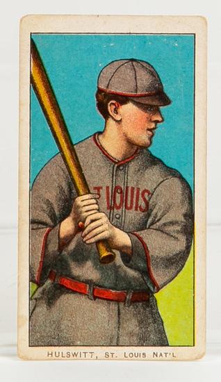 1909-11 T206 Rudy Hulswitt, St. Louis, Nat'l
