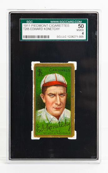 1911 T205 Ed Konetchy, St. Louis VG/EX 4, SGC