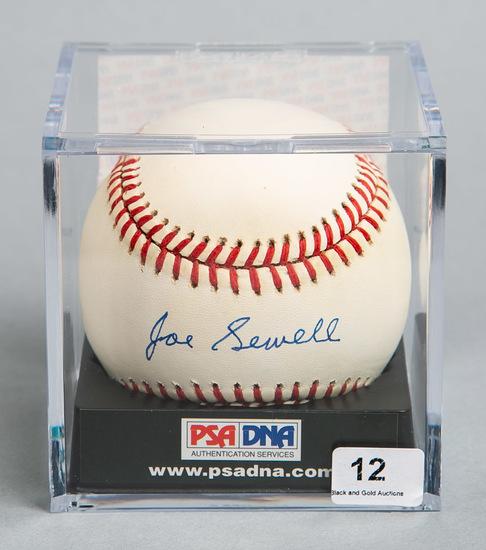 Joe Sewell (HOF) Autographed Baseball, PSA/DNA