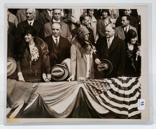 1929 Original AP Photo Pres. Hoover World Series