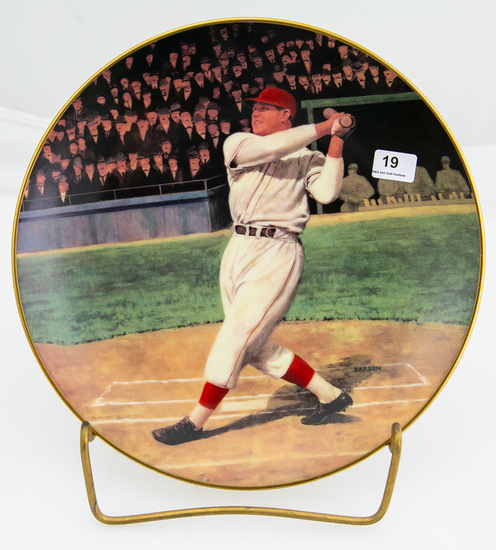 Jimmie Foxx: The Beast -- Delphi collector's plate