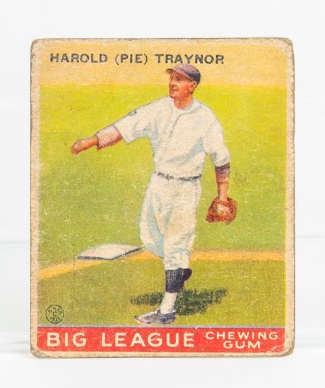 1933 Goudey #22 Pie Traynor (HOF)