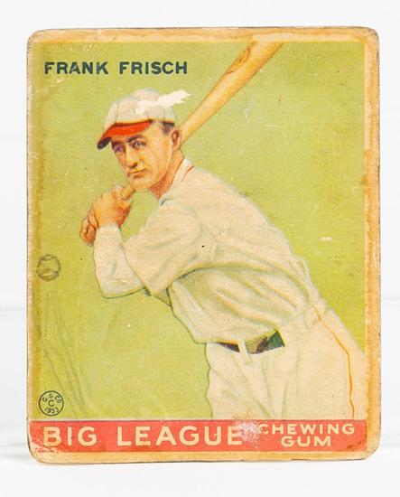 1933 Goudey #49 Frank Frisch (HOF)
