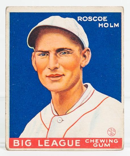 1933 Goudey #173 Roscoe Holm