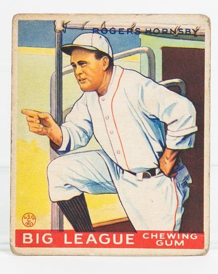 1933 Goudey #188 Rogers Hornsby (HOF)