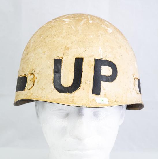 US M1 Helmet Liner, Painted White