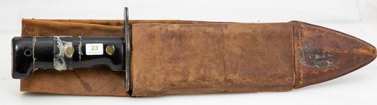 Kiffe M1917 Bolo Knife Copy, Leather Scabbard