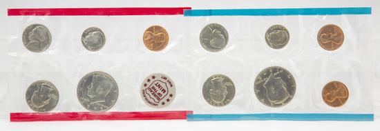 4 1970's U.S. Mint Uncirculated sets