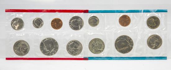 4 1980's U.S. Mint Uncirculated sets
