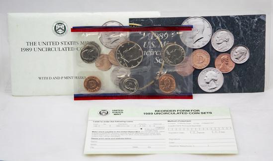 4 1980s/90s U.S. Mint Uncirculated sets
