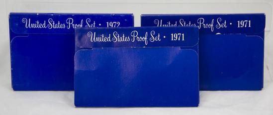 4 1970's U.S. Proof sets