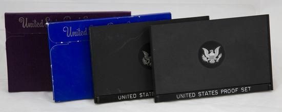 4 1970s/80s U.S. Proof sets