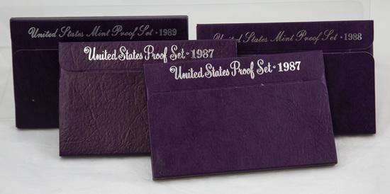 4 1980's U.S. Proof sets