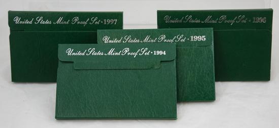 4 1990's U.S. Proof sets