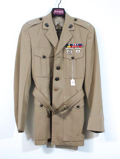WWII U.S. Marine Khaki Dress Jacket