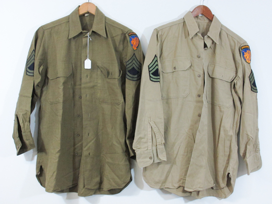 Pair of WWII US Army Shirts
