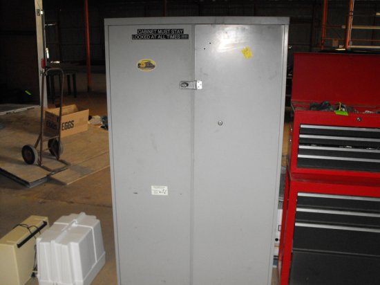 5' Metal Cabinet with Contents