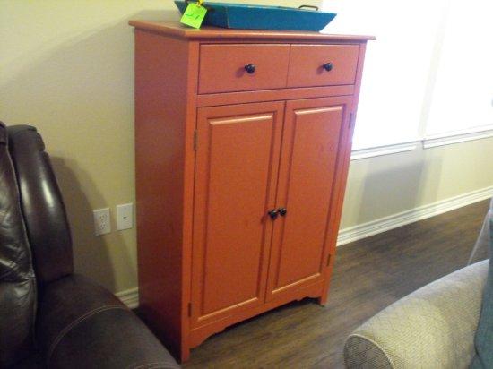 Wood Storage Cabinet w/ wood tray