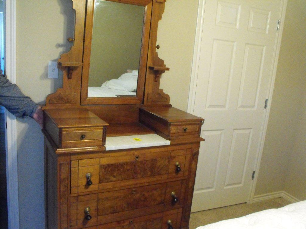 EastLake Victorian Walnut Dresser